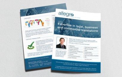 Allegro Translations Leaflet