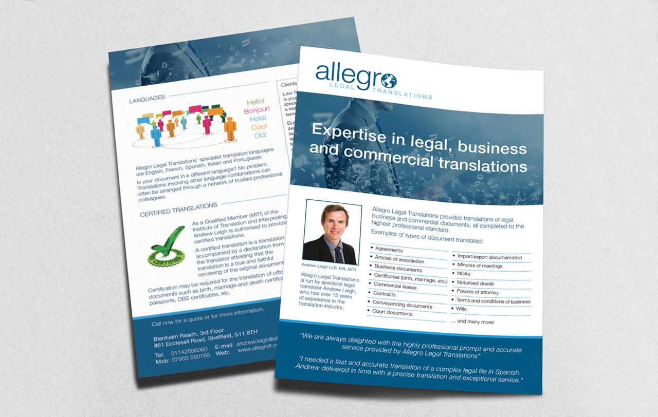 Allegro leaflet