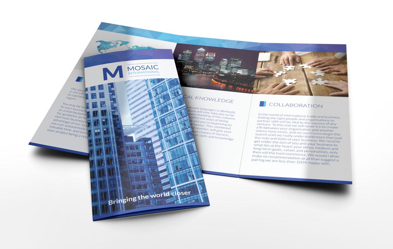 Mosaic International leaflet
